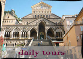 Amalfi. Napoli. Pompei and Ercolano guided daily tours