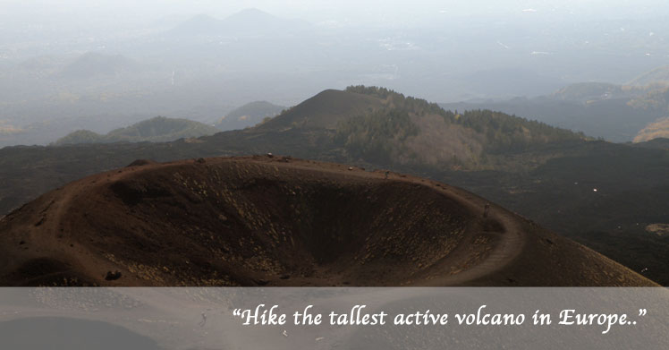 Etna volcano guided and self guided walking excursions