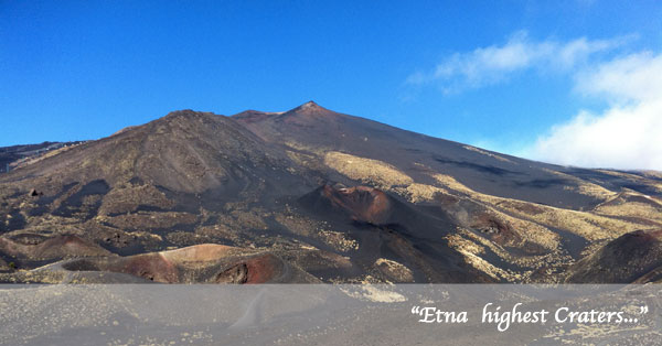 Etna volcano highest crater guided trekking excursions